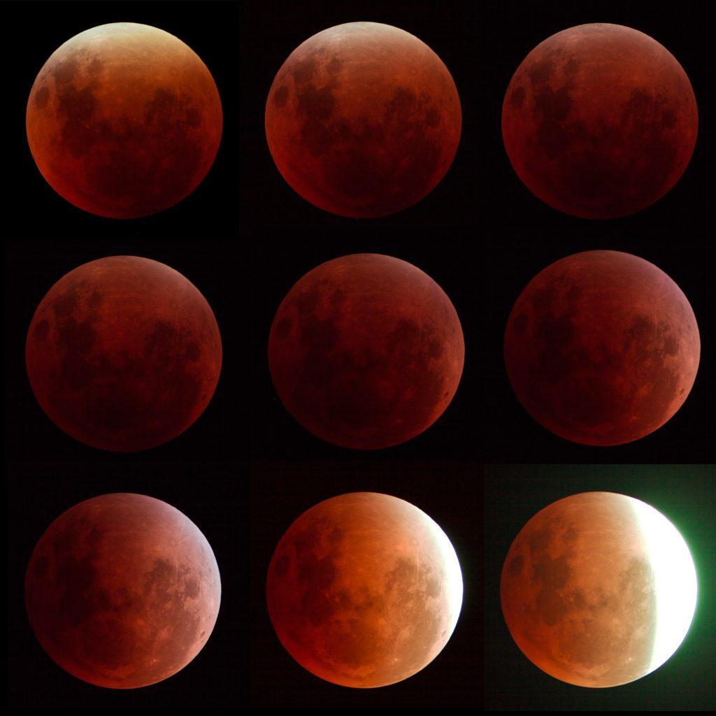 "Mondfinsternis vom 28.9.2015. 6"" f/8 FH-Refraktor, Canon 40D."