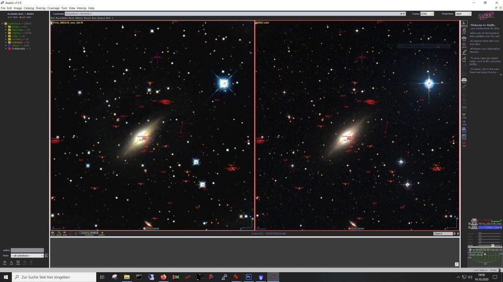 LinkeSeite mein Bild, rechts dselbe Ausschnitt aus dem DSS.