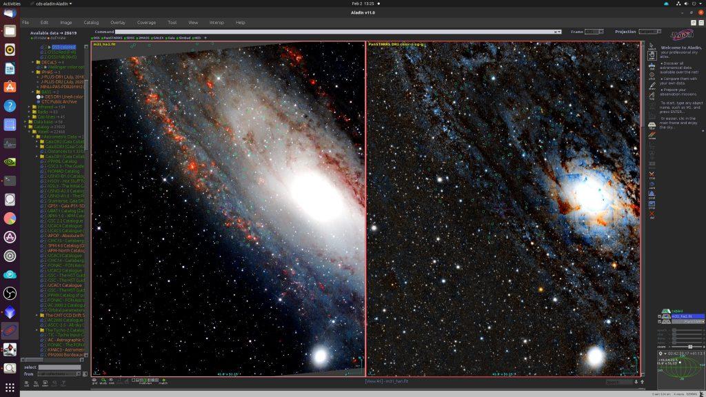 Auch im hier rechts gezeigten PanSTARRS-Bild fehlen die PN meist, obwohl es viel mehr normale Sterne enthält als unsr Bild.