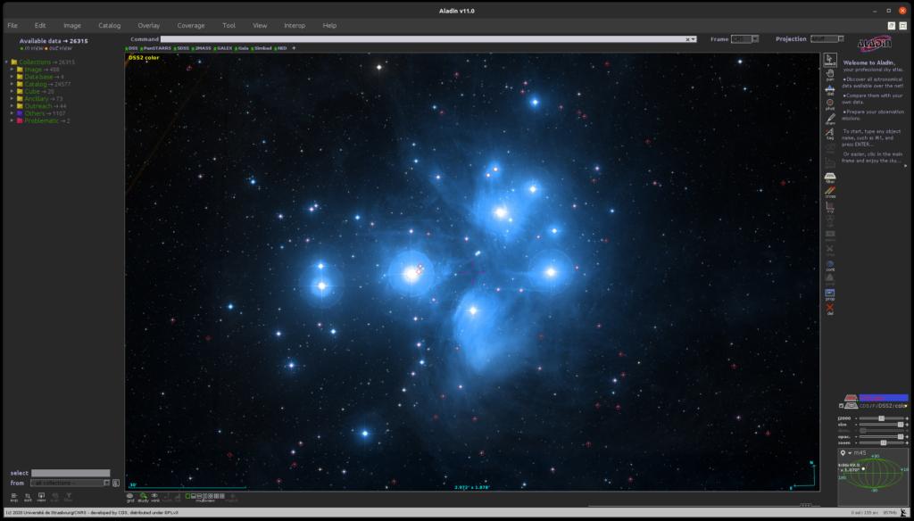 Der Zentrale Bereich. Nur die kleinen, düsteren Sterne ab 6 mag sind markiert.