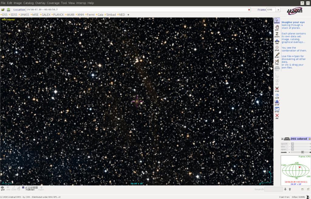 Cygnus A ist im optischen Bereich ziemlich düster.